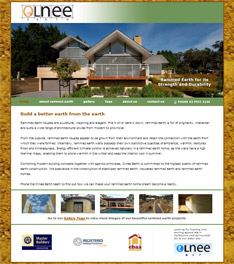 Olnee Rammed Earth - small business website design