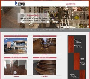 Innovative Floors small business website developed by En Pointe